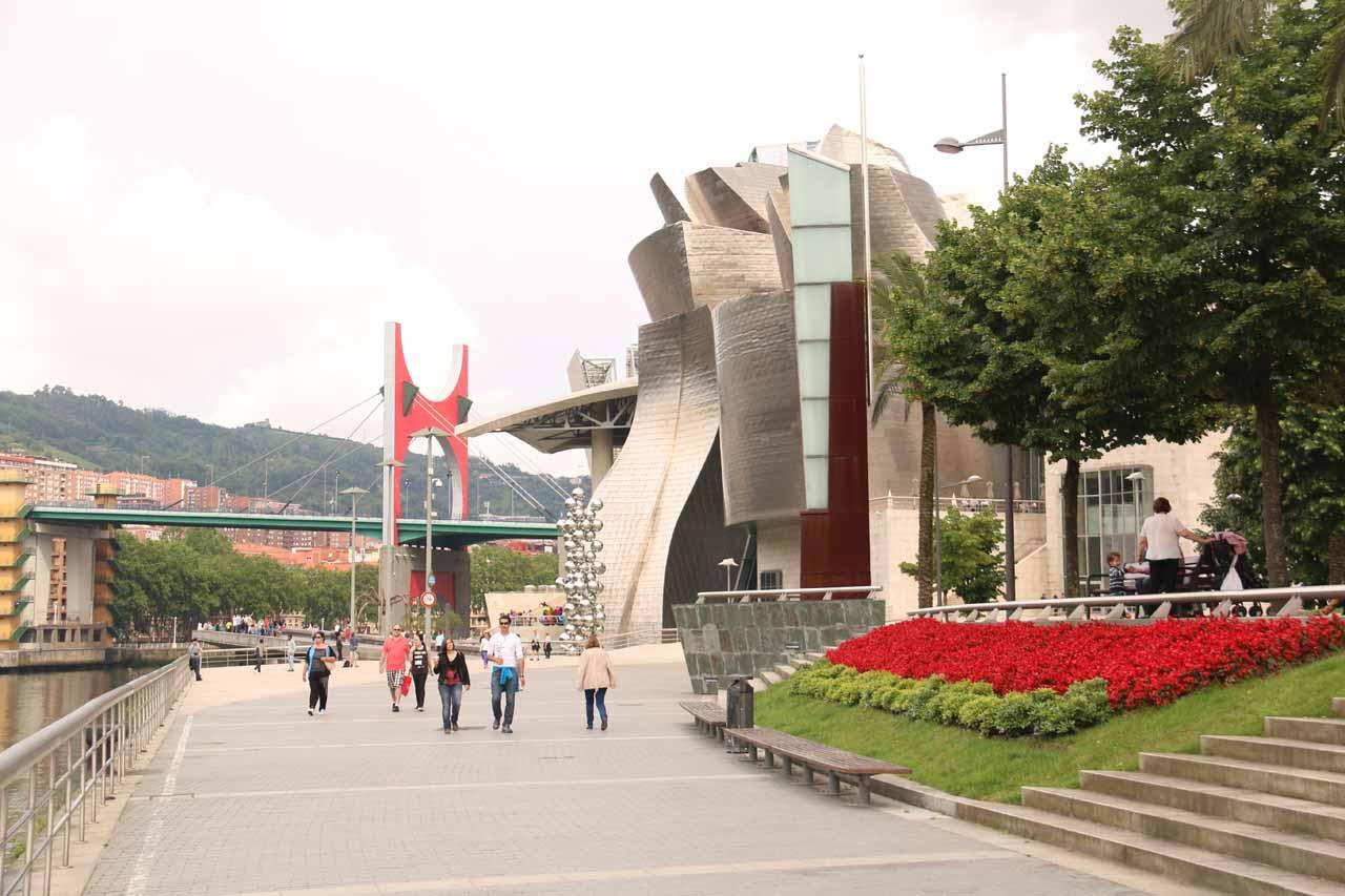 Approaching the Guggenheim in Bilbao