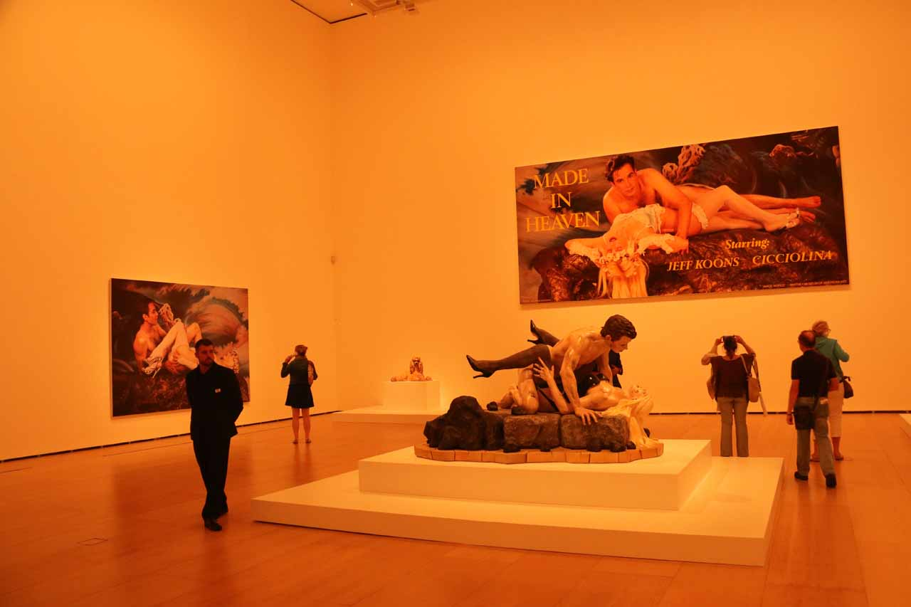 The controversial Made in Heaven room, which basically featured Koontz and his model wife having intercourse