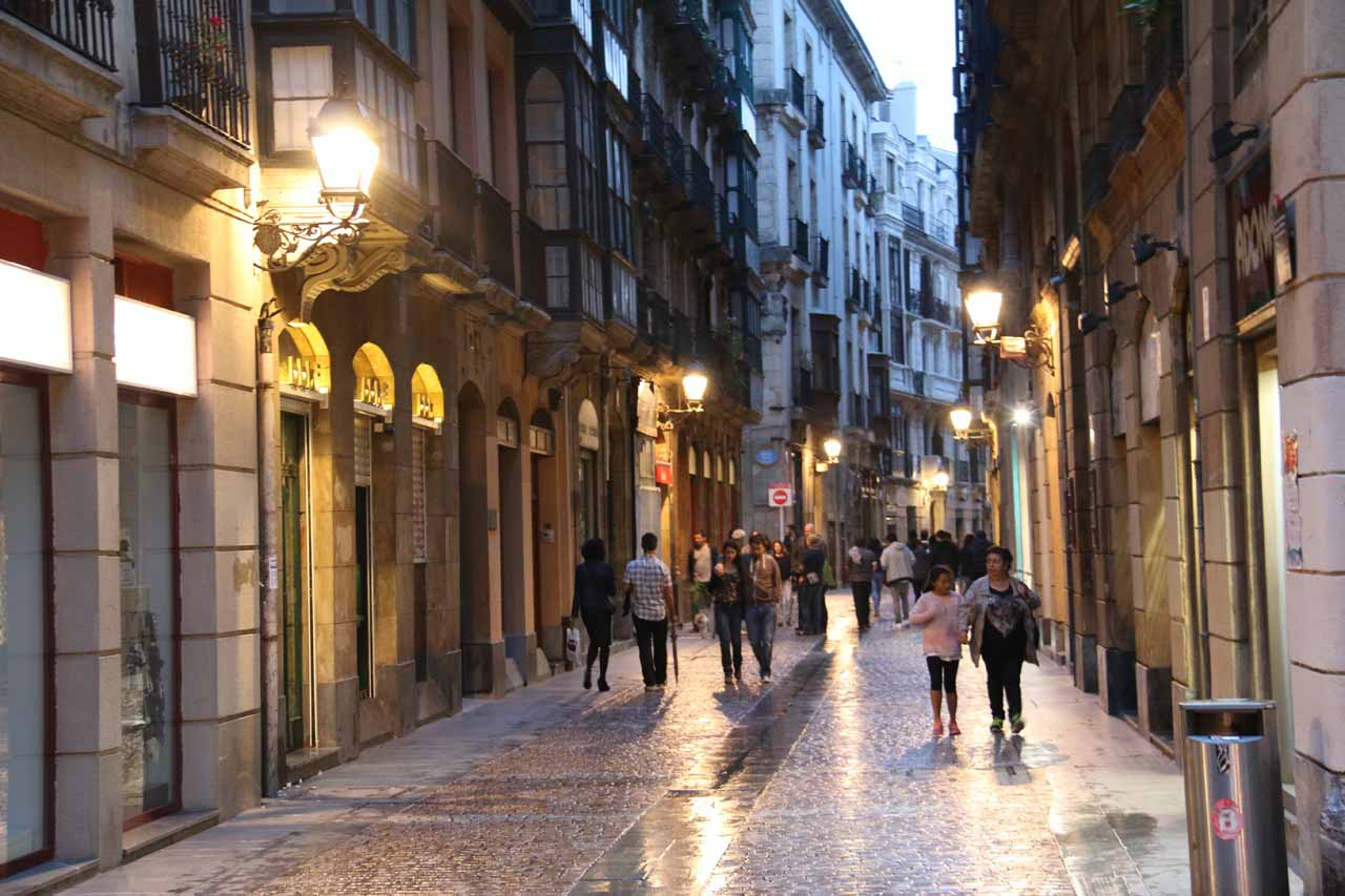 The evening paseo in the charming Casco Viejo of Bilbao