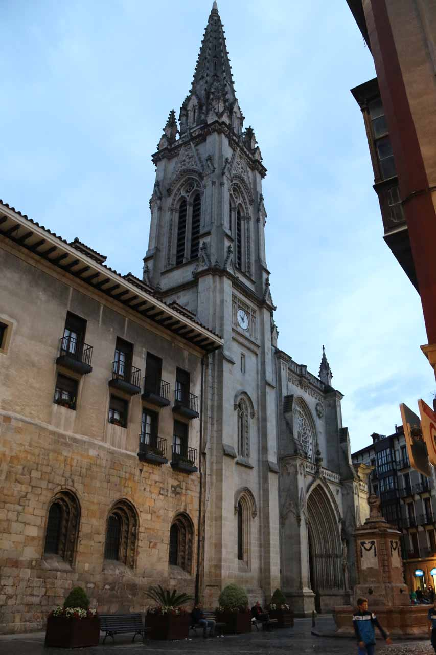 Looking towards the Catedral de Santiago in Bilbao's Casco Viejo