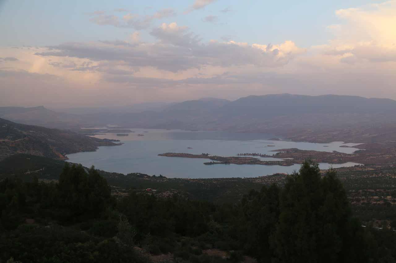 Looking towards the lake at Bin el Ouidane