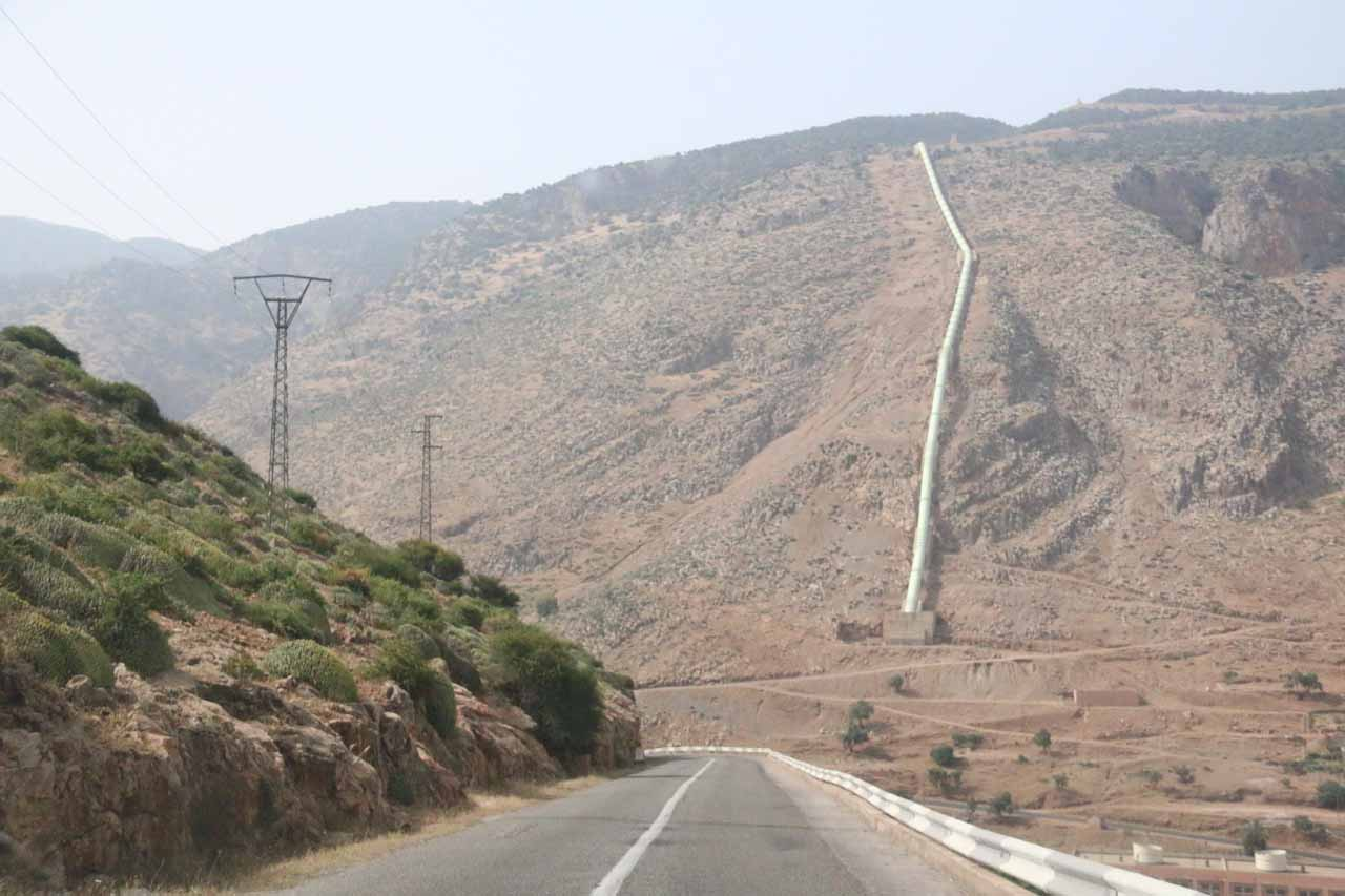 Driving past some hydro diversion scheme as we were descending towards Beni Mellal