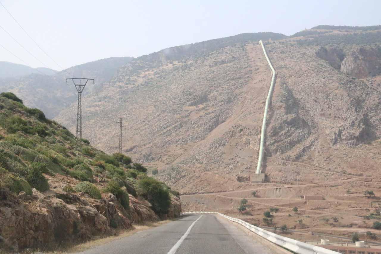 Driving past some hydro diversion scheme as we were descending towards Beni Mellal