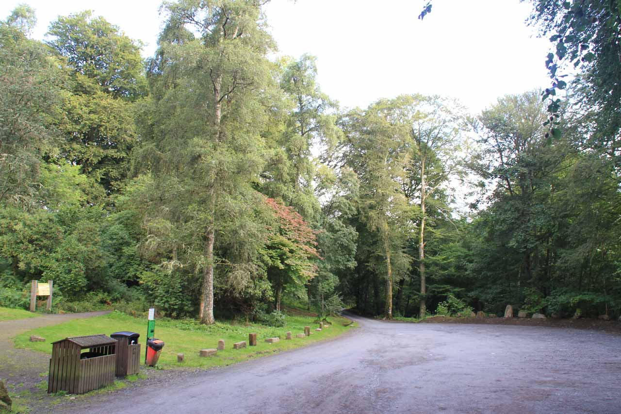 The Upper Aberfeldy Car Park