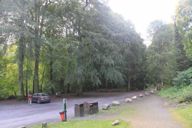 Birks_of_Aberfeldy_009_08222014 - The car park for the hike to the Falls of Moness and the Birks of Aberfeldy