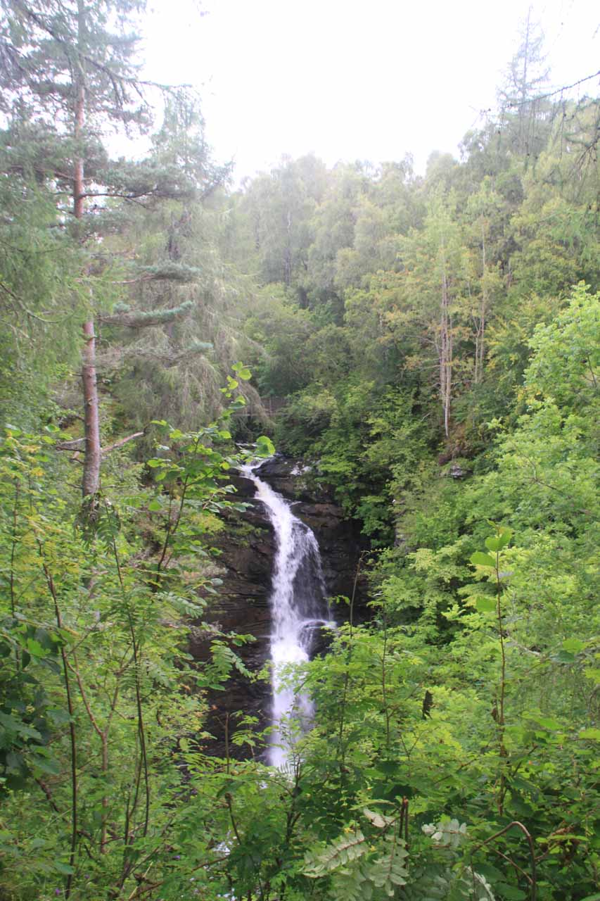 The Upper Falls of Moness in the Birks of Aberfeldy; made famous in a poem by Robert Burns