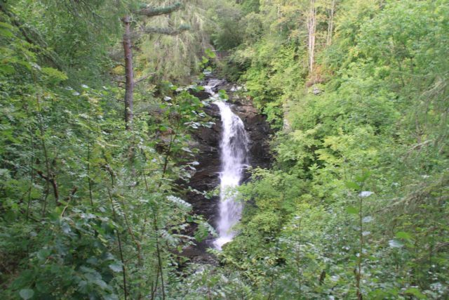Birks_of_Aberfeldy_065_08232014 - Partially overgrown view of the Falls of Moness