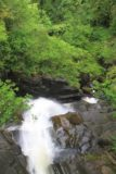Birks_of_Aberfeldy_072_08232014 - Looking down over the Upper Falls of Moness from the footbridge above it