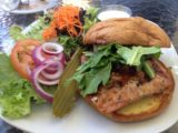 Bistro_107_003_iphone_07132016 - This was the surprisingly good salmon burger that Mom got, which was off the Bistro 107 specials menu