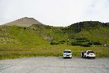 Bjarnafoss_006_08182021 - Context of Bjarnafoss and Maelifell volcano as seen from the new car park