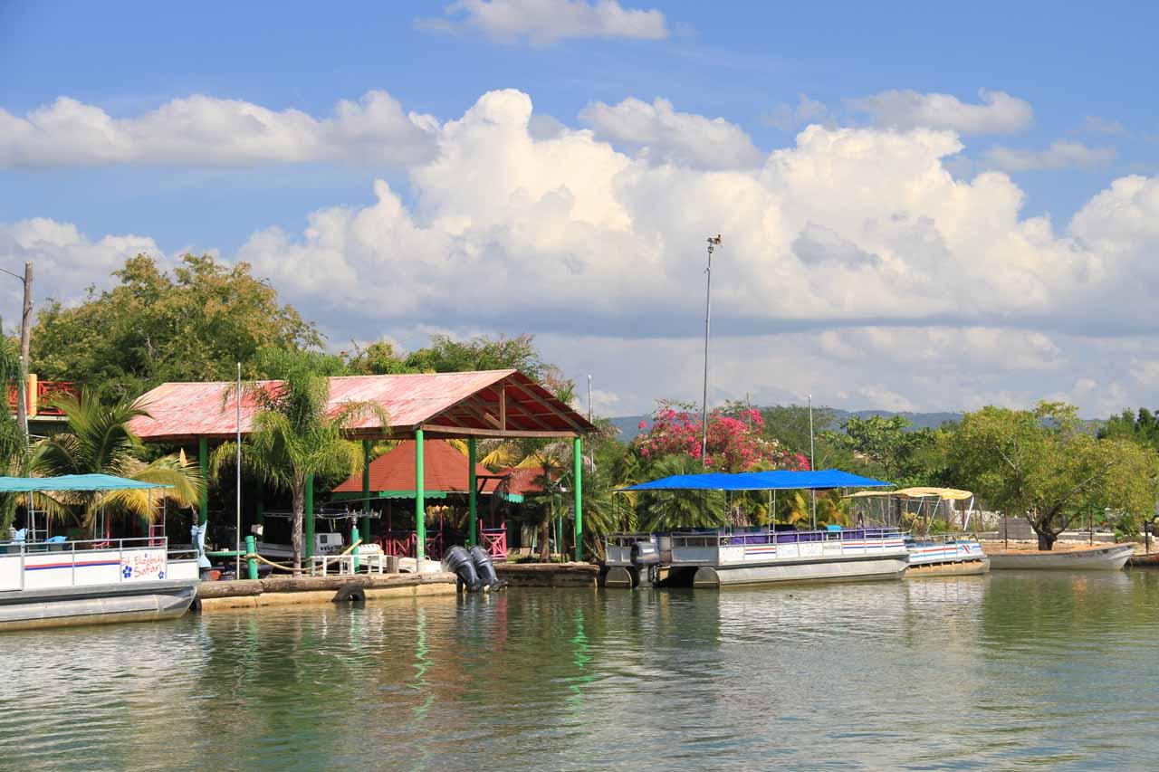At the dock for Black River Safari