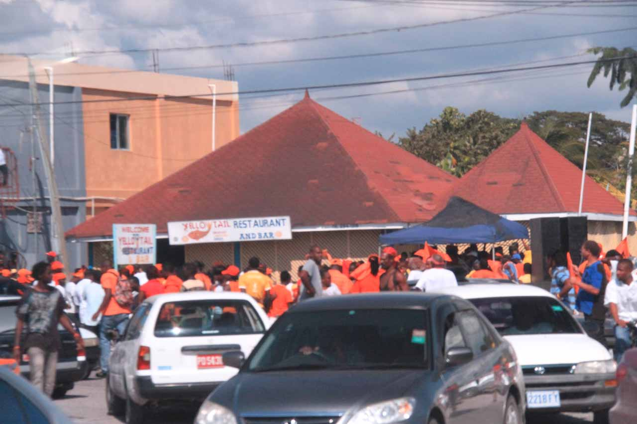 Going around PNP celebrations at the Black River town