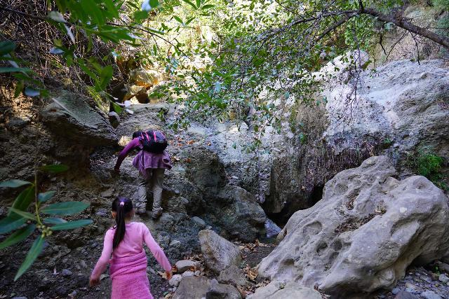 Black_Star_Canyon_Falls_187_01042020 - Our hike to Black Star Canyon Falls did involve a good deal of getting dirty as we scrambled around and over boulder obstacles though these would be much more difficult if Black Star Creek had even more water