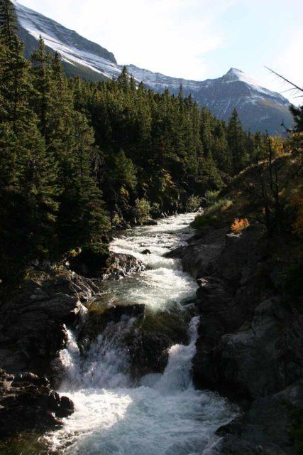 Blackiston_Falls_044_09222010 - A cascade upstream from the main drop of Blakiston Falls