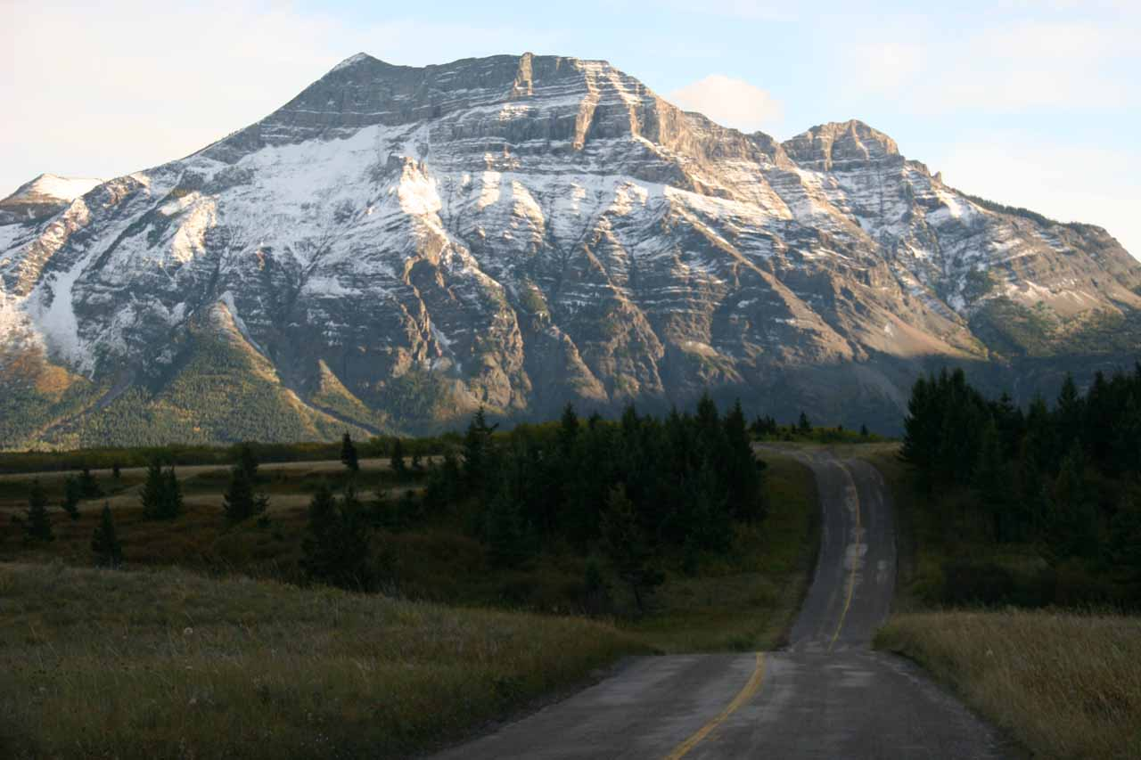 Driving back to Waterton