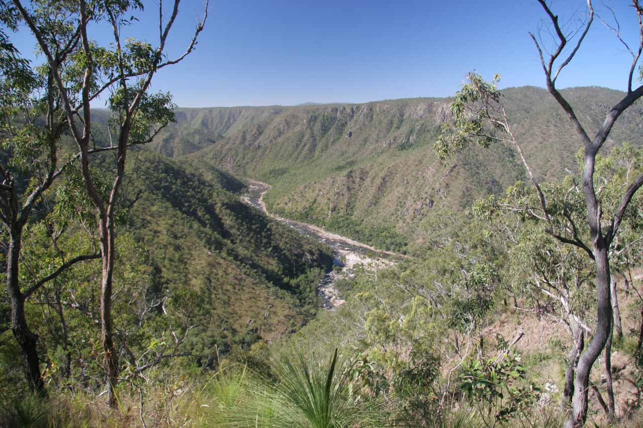 This was the view looking into the remote Herbert River Gorge from the Blencoe Falls car park