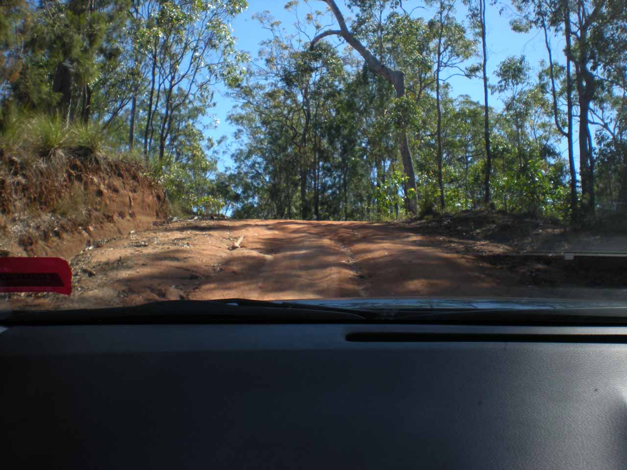 This was the hill in the final rough 5.2km stretch that ultimately damaged the underside of our rental car