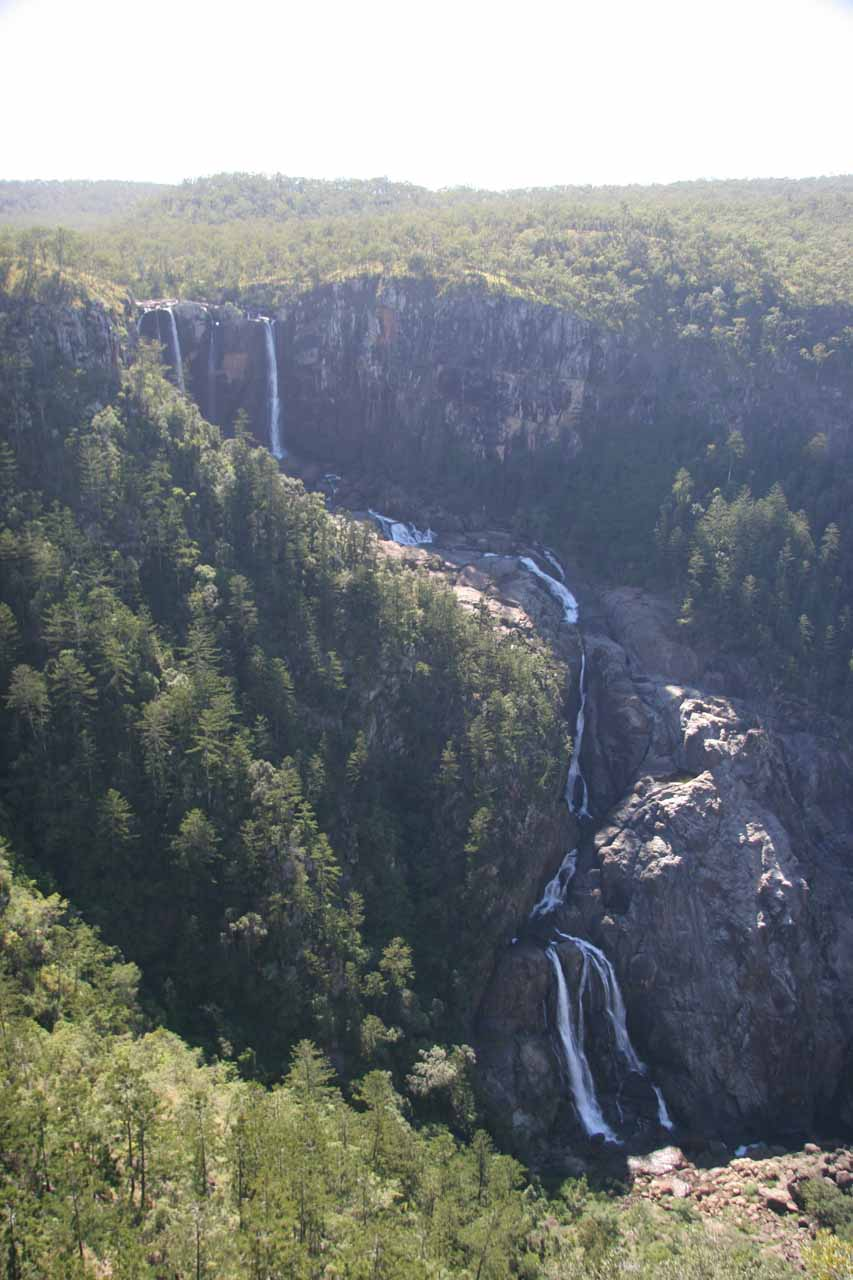 Here is another clean look at the impressive Blencoe Falls dropping a total of some 320m as Blencoe Creek shortly joined the Herbert River just downstream of the falls