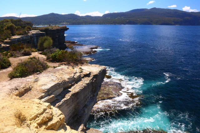Blowhole_17_040_11262017 - Roughly 90 minutes drive to the southeast of Hobart was the Tasman Peninsula, where we were treated to vistas of rugged coastlines (like what's shown here) full of blowholes and sea arches