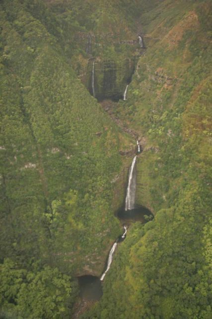 Blue_Hawaiian_Maui_Heli_078_02252007 - All the tiers of Moa'ula Falls as seen from the air