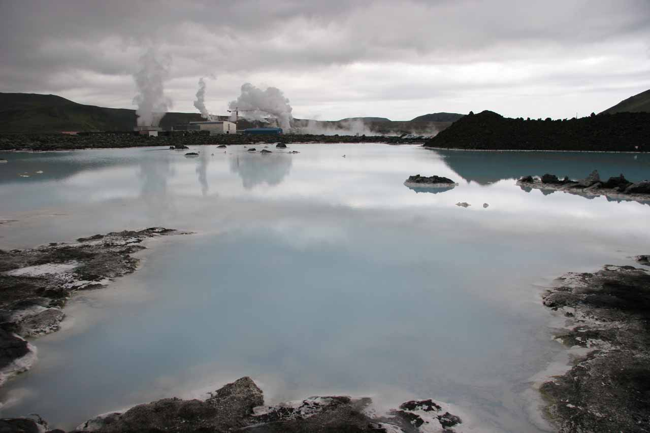 The Blue Lagoon when we left the spa facility