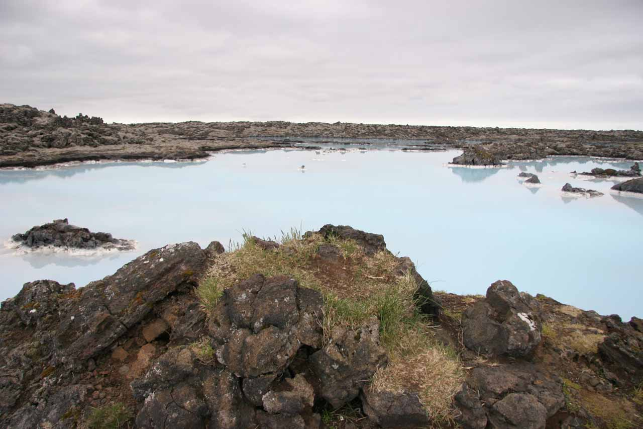West of Reykjavik (closer to the airport) was the impressive Blue Lagoon, which was one spot where runoff from a geothermal plant actually resulted in a colorful and popular spa