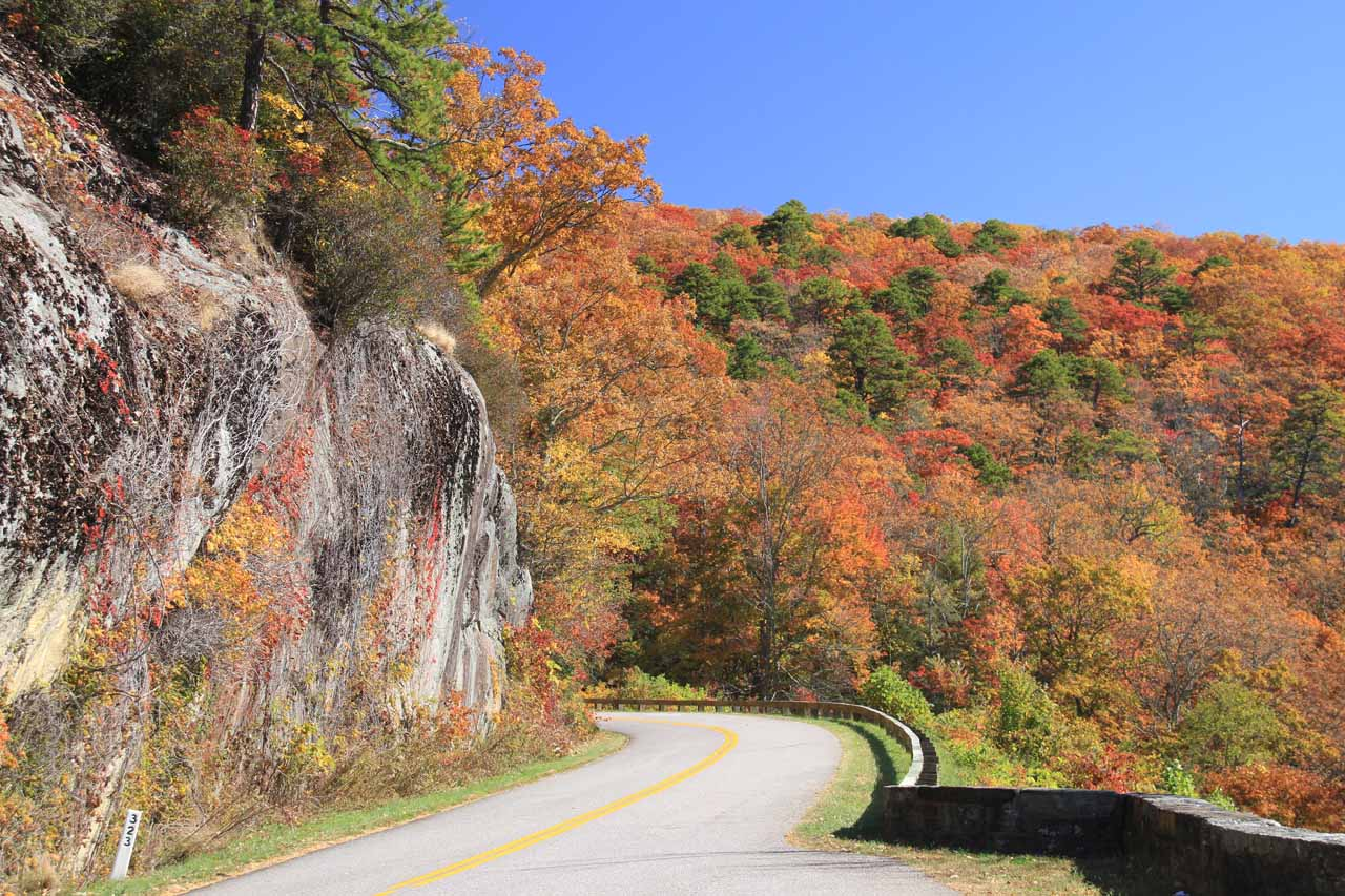 The Blue Ridge Parkway road