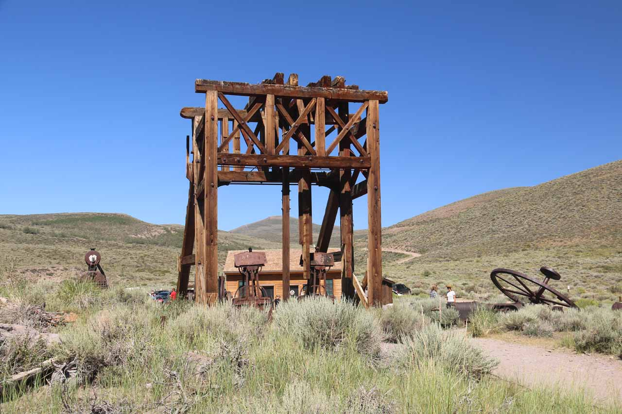 Looking back at some larger contraption near the car park for Bodie