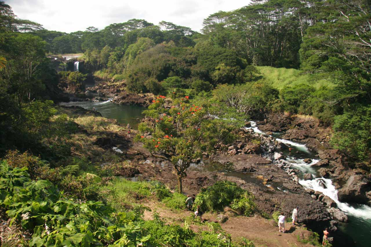 The Wailuku River between Pe'epe'e Falls and Boiling Pots under benign conditions