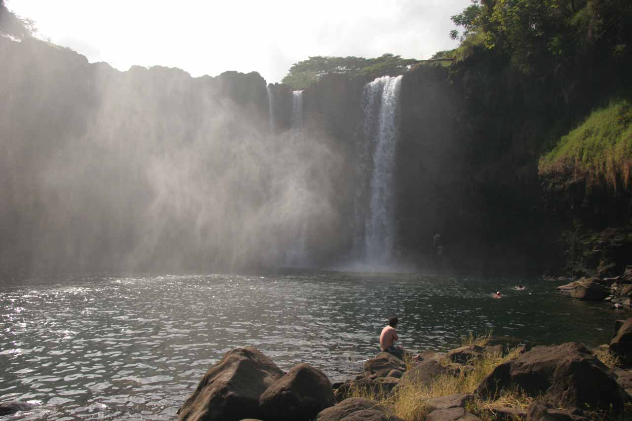 Looking across the plunge pool at Peepee Falls