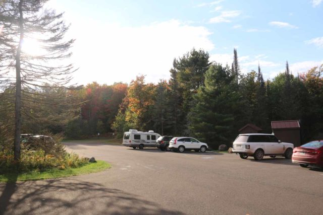 Bond_Falls_009_09282015 - The parking lot nearest to the boardwalk for the Bond Falls