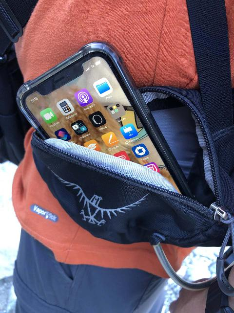 The Osprey Manta 34 Backpack had zippered hip belt pockets so I can stow small items like my phone or pen and notepad without needing to unsling the pack or cause sweat damage