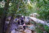 Bonita_Falls_043_01182021 - Following another family (all of whom didn't wear masks) up towards the base of Bonita Falls