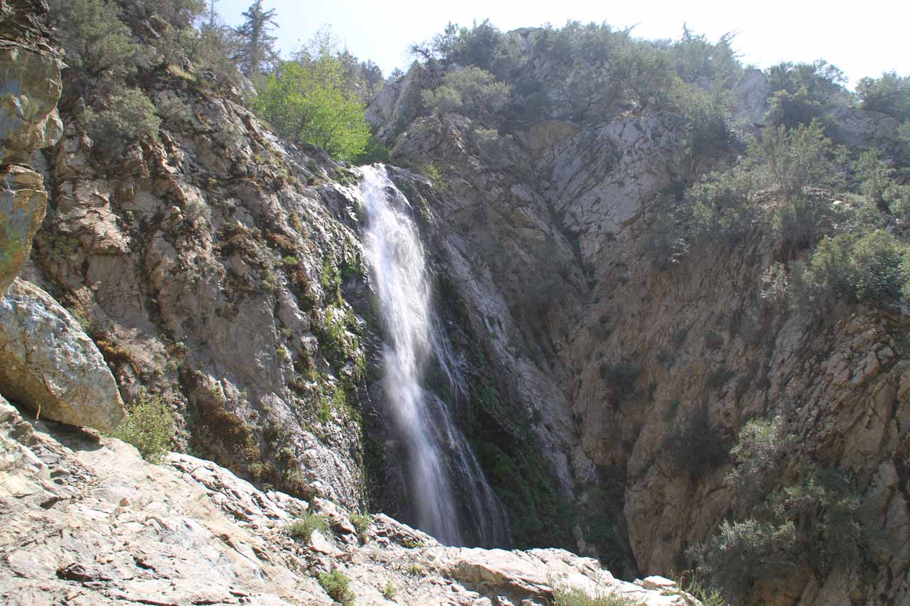 View of Bonita Falls from just in front of one of the caves
