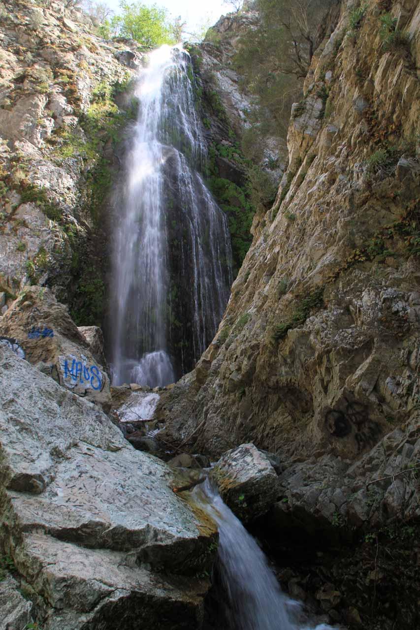 Bonita Falls in afternoon light