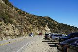 Bonita_Falls_132_01182021 - Making it back towards our parked car (near that speed limit sign), which was quite a ways from the spot where we crossed Lytle Creek as part of the Bonita Falls hike
