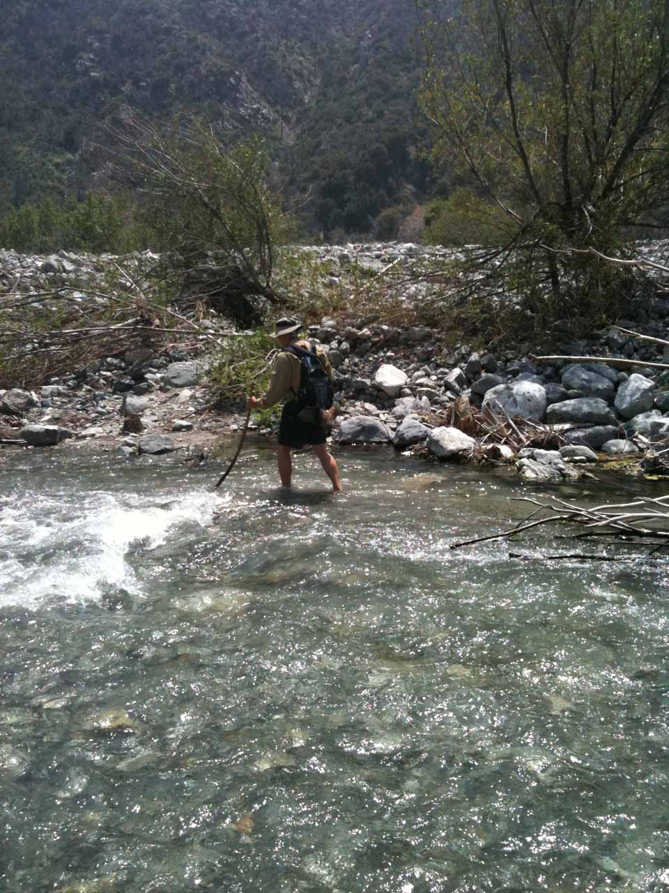 Almost across Lytle Creek