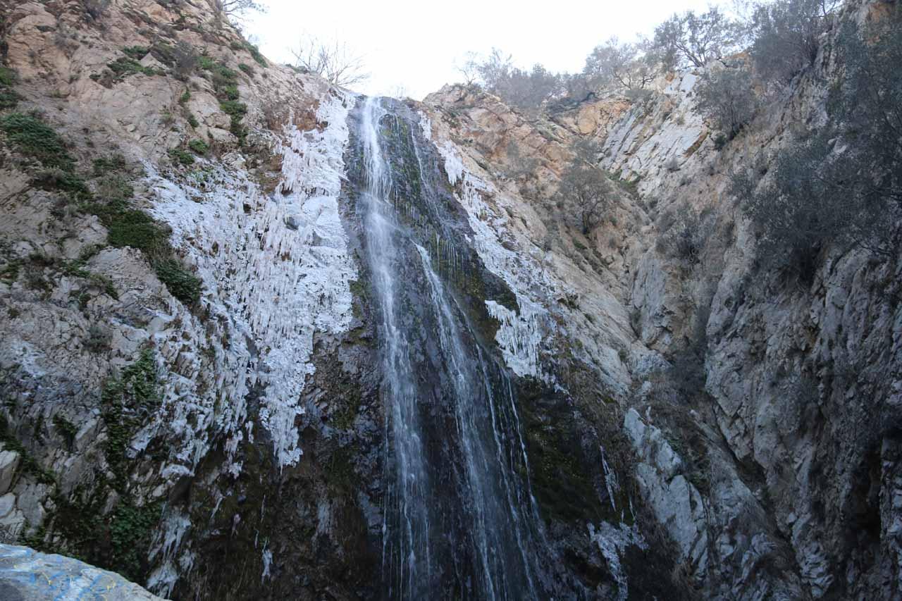 Bonita Falls flanked by icicles