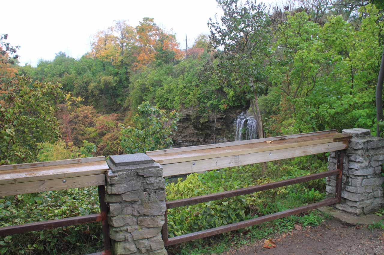 The overlook for Borer's Falls