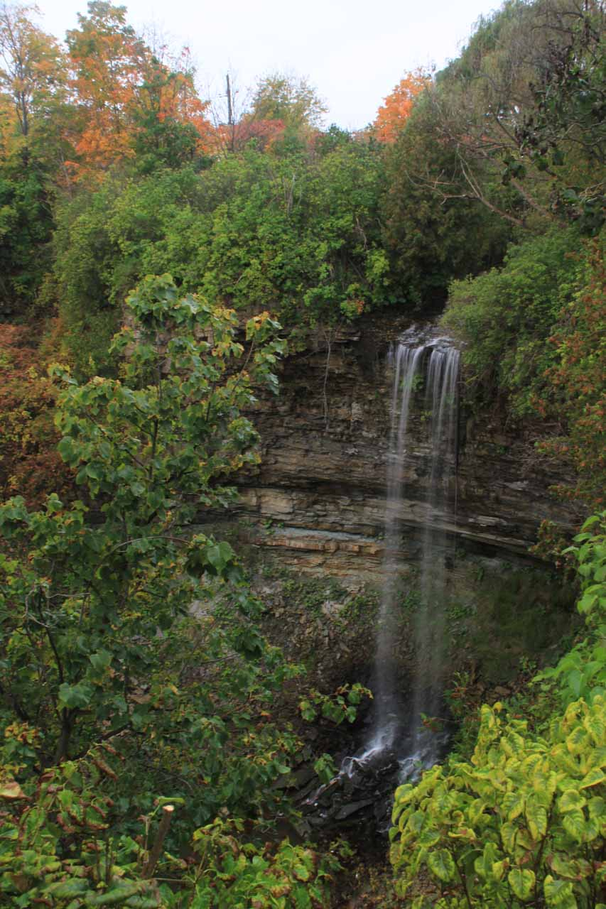 The view of Borer's Falls from the sanctioned lookout