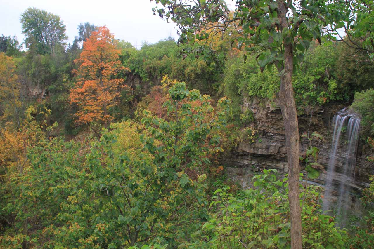 I was already able to start seeing part of Borer's Falls as I was approaching the sanctioned lookout for the falls