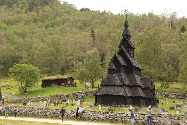 Borgund_096_07222019 - The main reason why we even bothered to visit Sjurhaugfossen was primarily so we could experience the famous Borgund Stave Church, which was one of the oldest and largest of the preserved stave churches in Norway