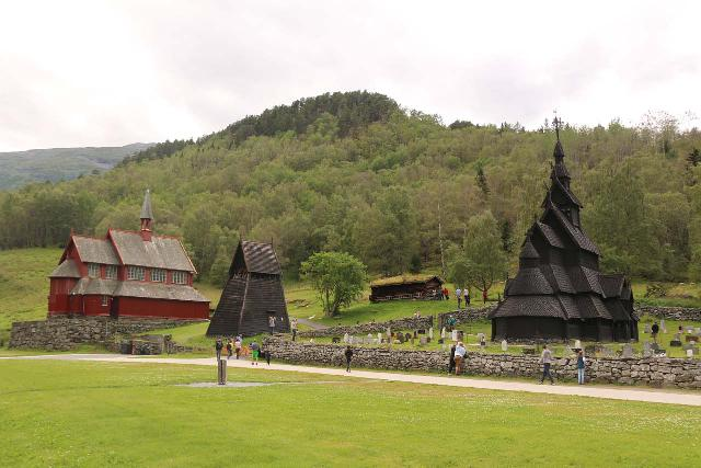 Borgund_098_07222019 - On the other side of the 24.5km Lærdalstunnel, we managed visit the popular Borgund Stave Church, which was one of the largest and best preserved of all the stave churches throughout Norway