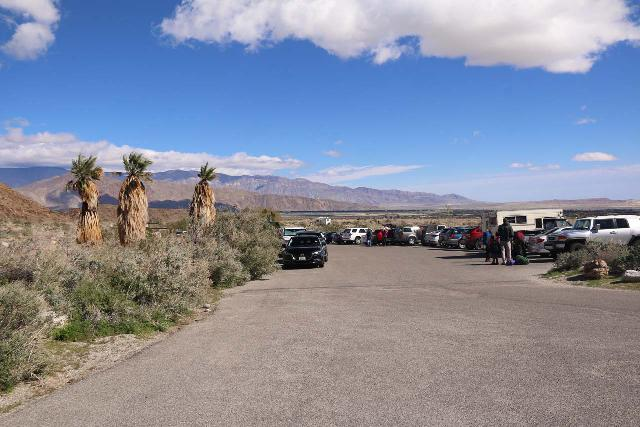 Borrego_Palm_Canyon_267_02092019 - Looking back at the parking lot at the Borrego Palm Canyon Trailhead
