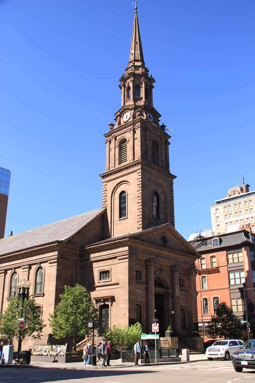 The church near the Boston Public Garden