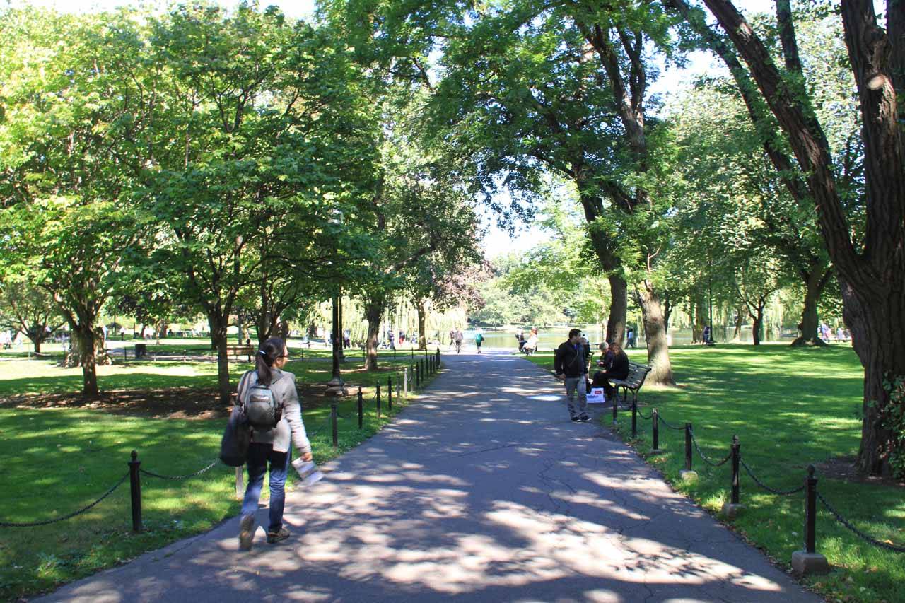 Entering the Boston Public Garden
