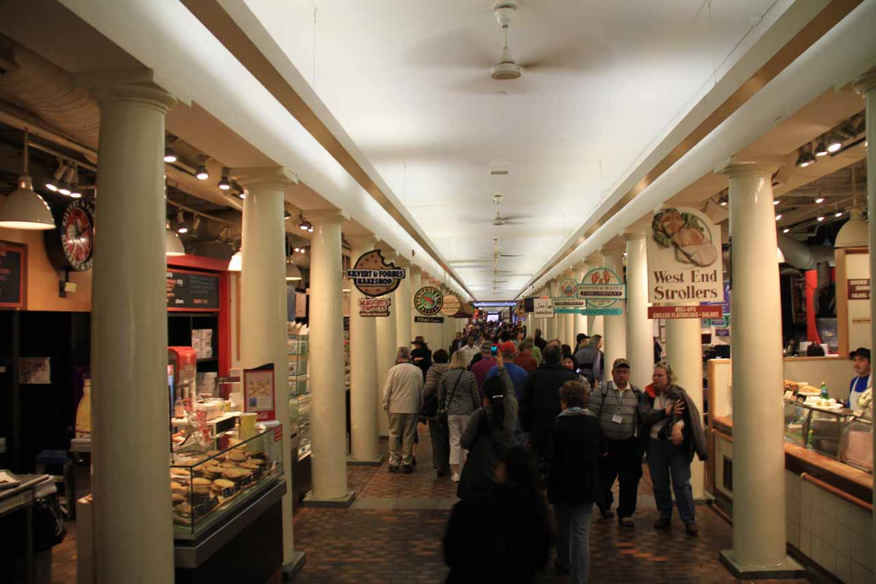 Inside the Quincy Market