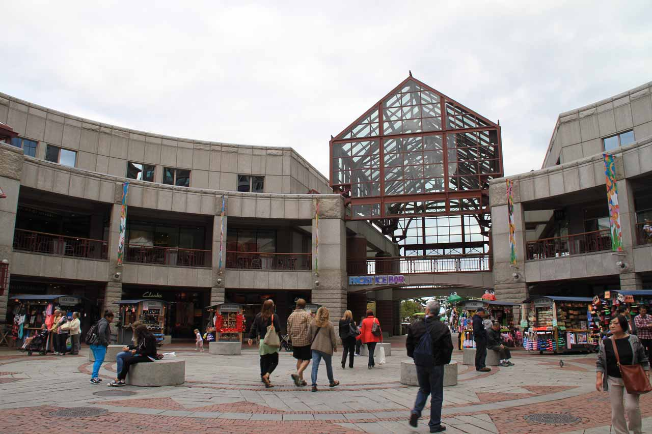 Towards the end of the Faneuil Hall Marketplace