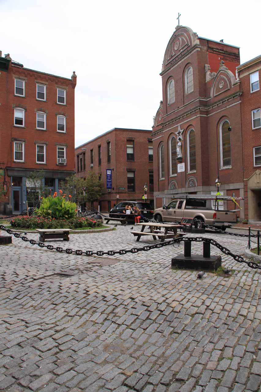 Another look at the small cobblestone square near the Revere House