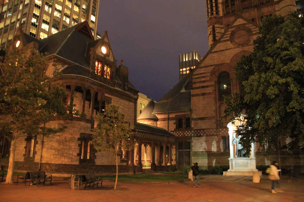 The Old Trinity Church at night